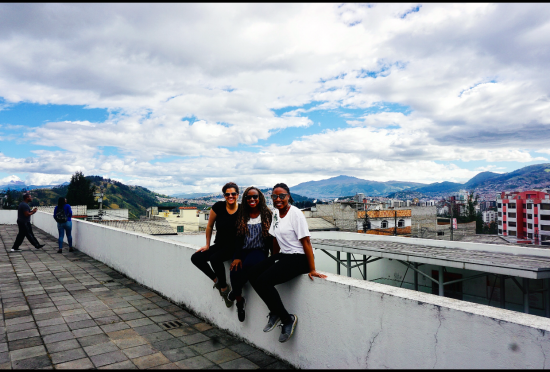 Ed.S. School Psychology candidates Brittany Fahey, Shanice Murphy and Raven Patterson in Ecuador